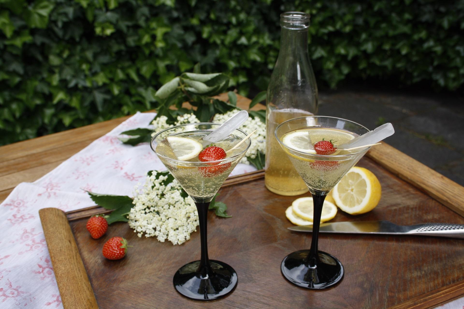 Hyldeblomstdrik med honning